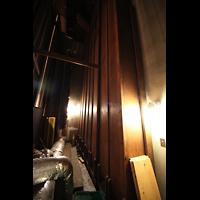 Philadelphia (PA), Irvine Auditorium (''Curtis Organ''), Tiefste Oktave des Pedal Open Wood 32' in der rechten Stage Pedal Pfeifenkammer