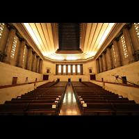 Philadelphia (PA), Girard College Chapel, Blick vom Spieltisch zur Rückwand