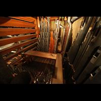 Philadelphia (PA), Girard College Chapel, Swell Division - eine von vier Windladen (8'-Strings, 8'- und 4'-Flöten und Oboe d'Amour)
