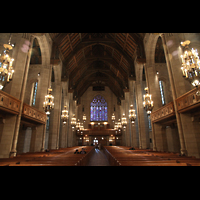 Chicago (IL), Forth Presbyterian Church, Hauptschiff in Richtung Chor