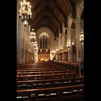Chicago (IL), Forth Presbyterian Church, Hauptschiff in Richtung Rückwand