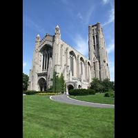 Chicago (IL), University, Rockefeller Memorial Chapel, Außenansicht