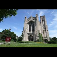 Chicago (IL), University, Rockefeller Memorial Chapel, Fassade und Turm