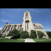 Chicago (IL), University, Rockefeller Memorial Chapel, Seitenansicht