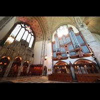 Chicago (IL), University, Rockefeller Memorial Chapel, Altarraum mit Orgel
