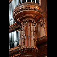 Chicago (IL), University, Rockefeller Memorial Chapel, Figurenschmuck unter dem rechten Pedalturm