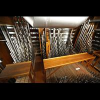 Chicago (IL), University, Rockefeller Memorial Chapel, Pfeifenkammer der Choir Division