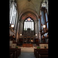 Chicago (IL), University, Rockefeller Memorial Chapel, Chorraum mit Orgel