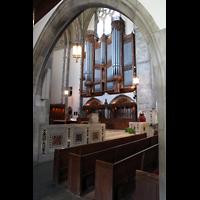 Chicago (IL), University, Rockefeller Memorial Chapel, Blick vom Querhaus zur Orgel