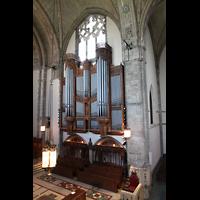 Chicago (IL), University, Rockefeller Memorial Chapel, Blick von der gegenüberliegenden Empore zur Orgel und ins Querhaus
