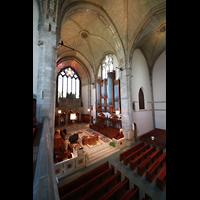 Chicago (IL), University, Rockefeller Memorial Chapel, Blick von der Seitenempore in den Chorraum