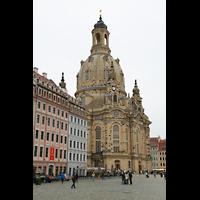 Dresden, Frauenkirche, Außenansicht mit Vorplatz