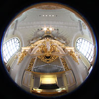 Dresden, Frauenkirche, Orgel Gesamtansicht