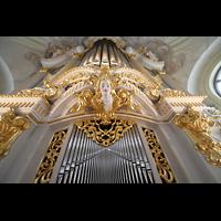 Dresden, Frauenkirche, Orgelprospekt vom Spieltisch aus gesehen