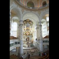 Dresden, Frauenkirche, Blick von der gegenüberliegenden Empore zur Orgel