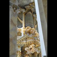Dresden, Frauenkirche, Blick von der Seitenempore zur Orgel