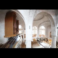 Dresden, Kreuzkirche, Seitlicher Blick zur Orgel und in die Kirche