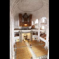 Dresden, Kreuzkirche, Blick von der gegenüberliegenden Empore zur Orgel
