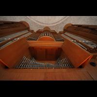 Dresden, Kreuzkirche, Orgelprospekt vom Spieltisch aus gesehen