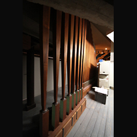Berlin (Tiergarten), Philharmonie, Pfeifen der Posaune 32' hinter der Orgel