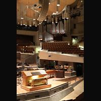 Berlin (Tiergarten), Philharmonie, Generalspieltisch und Orgel