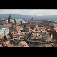 Bamberg, St. Stephan, Blick vom Michaelsberg zum Stephansberg