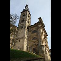 Bamberg, St. Stephan, Außenansicht mit Turm