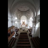 Bamberg, St. Stephan, Blick von der Orgel in die Kirche