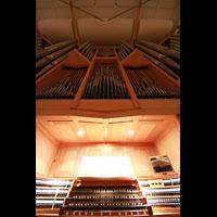 Bamberg, Konzert- und Kongresshalle, Spieltisch und Orgel