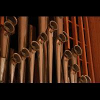 Bamberg, Konzert- und Kongresshalle, Pfeifen der Trompeten im Bombardewerk