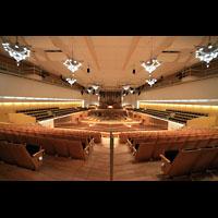 Bamberg, Konzert- und Kongresshalle, Konzerthalle Gesamtansicht mit Orgel