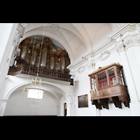 Bamberg, St. Stephan, Orgel und Holztribühne