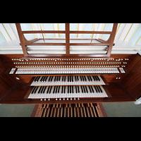 Hamburg, St. Michaelis, ''Michel'' (Krypta-Orgel), Spieltisch der Konzertorgel