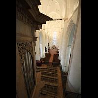 Hamburg, St. Katharinen (Chororgel), Blick von der Orgelempore in die Kirche