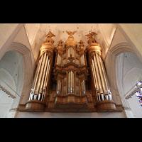 Hamburg, St. Katharinen (Chororgel), Hauptorgel von der Sängerempore aus gesehen