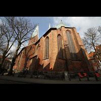 Lübeck, St. Ägidien, Außenansicht Chor