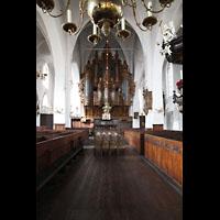 Lübeck, St. Ägidien, Innenraum in Richtung Orgel