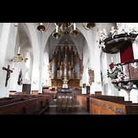 Lübeck, St. Ägidien, Blick vom Chor zur Orgel