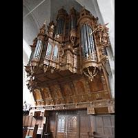Lübeck, St. Ägidien, Kunstvoll verzierter Orgelprospekt