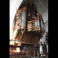 Lübeck, St. Ägidien, Reich verzierte Orgelempore