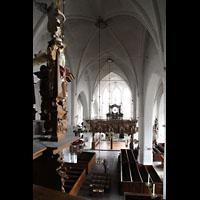 Lübeck, St. Ägidien, Blick von der Orgelempore in die Kirche