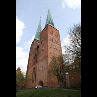 Lübeck, Dom (Hauptorgel), Doppelturmfassade