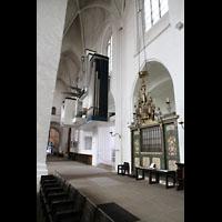 Lübeck, Dom (Hauptorgel), Nördliches Seitenschiff mit Orgel, Blick Richtung Westfassade