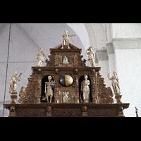 Lübeck, Dom (Hauptorgel), Dach der Kircheuhr mit sich bewegenden Figuren