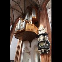 Lübeck, St. Marien (Hauptorgel), Empore der Totentanzorgel