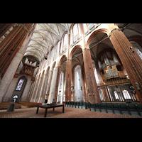 Lübeck, St. Marien (Hauptorgel), Altarraum mit Blick zur Hauptorgel
