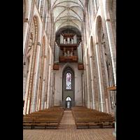 Lübeck, St. Marien (Hauptorgel), Innenraum in Richtung Orgel