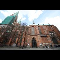 Lübeck, St. Marien (Hauptorgel), Außenansicht von der Seite