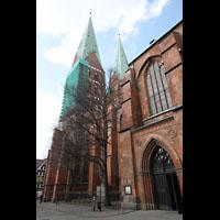 Lübeck, St. Marien (Hauptorgel), Querhaus und Türme