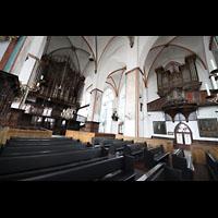 Lübeck, St. Jakobi (Kleine Orgel), Große und kleine Orgel